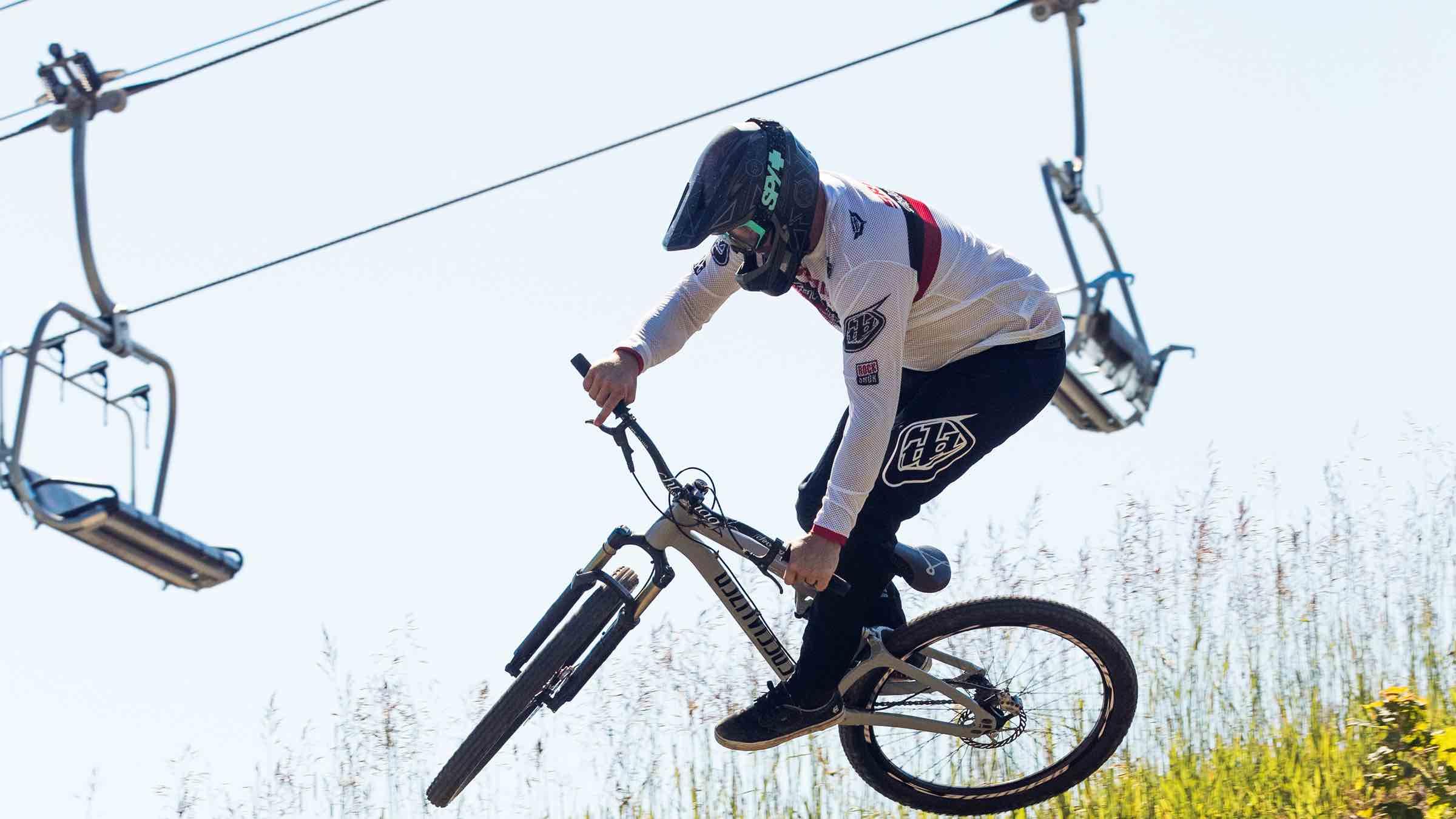Horseshoe Resort biking rider doing tricks